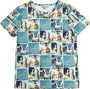 Paul Smith Junior , Space Printed Cotton Jersey T Shirt