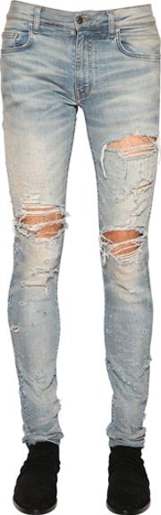 Amiri , 15cm Shotgun Stretch Cotton Denim Jeans