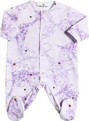 Young Versace , Ladybug & Ivy Print Cotton Jersey Romper