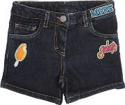 An Italian Theory , Patches Stretch Cotton Denim Shorts