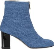 Camilla Elphick , 75mm Zip Me Up Denim Cropped Boots