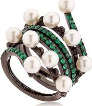 Colette Jewelry , Entwined Emerald Black Gold Ring
