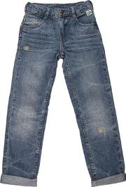 Courage&kind , Washed & Stitched Cotton Denim Jeans