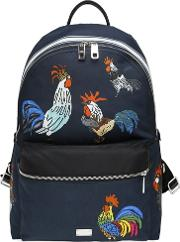 Dolce & Gabbana , Rooster Printed Nylon Backpack