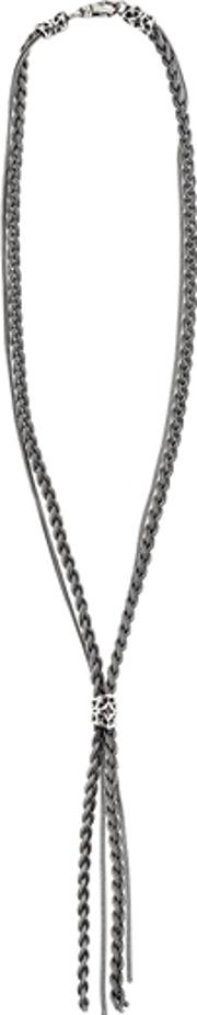 Emanuele Bicocchi , Braided Chain Sterling Silver Necklace