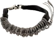 Emanuele Bicocchi , Sterling Silver & Leather Bracelet