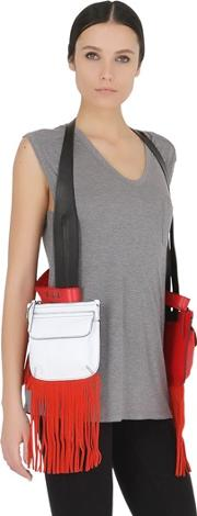 Halaby , Fringed Leather Harness With Pouches