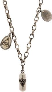 Jade Jagger , Silver & Diamond Necklace With Charms