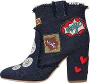 Laurence Dacade , 95mm Patches Denim Ankle Boots