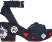 Laurence Dacade , 95mm Patches Denim Sandals