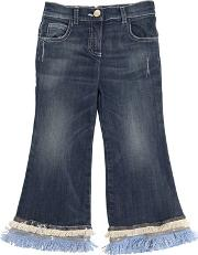 Miss Grant , Fringed & Sequined Stretch Denim Jeans