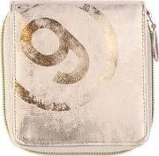 Mm6 Di Maison Margiela , Laminated Faux Leather Zip Around Wallet