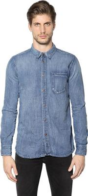 Nudie Jeans Co , Authentic Washed Cotton Denim Shirt