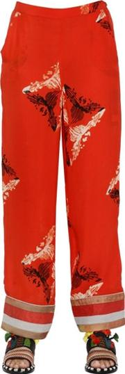 Sanchita , Embroidered Printed Silk Georgette Pants