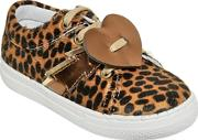 Two Con Me By Pepe , Leopard Printed Faux Pony Hair Sneakers