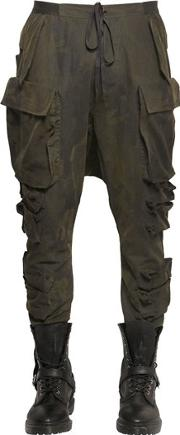 Unravel , Multi Pockets Camouflage Cargo Pants