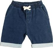 Yporque , Denim Effect Cotton Sweat Shorts