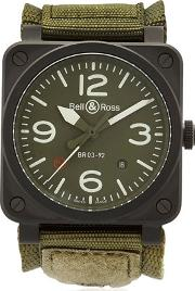 Bell & Ross , Br03 92 Military Automatic Ceramic Watch