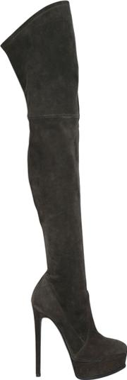 Casadei , 140mm Stretch Suede Over The Knee Boots