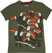 Myths , Tucan Printed Cotton Jersey T Shirt