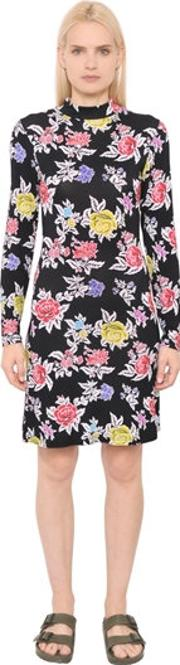 House Of Holland , Rose Printed Viscose Jersey Dress