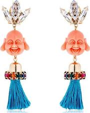 Anton Heunis , Pandora's Box Happy Buddha Earrings