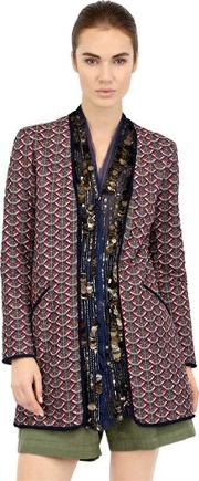 Bazar De Luxe , Embellished Quilted Cotton Jacket