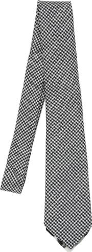 Bram , Micro Houndstooth Tie W Printed Tipping