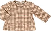 Caramel Baby And Child , Printed Stripes On Viscose Shirt