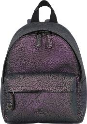 Coach Ny , Iridescent Textured Leather Backpack