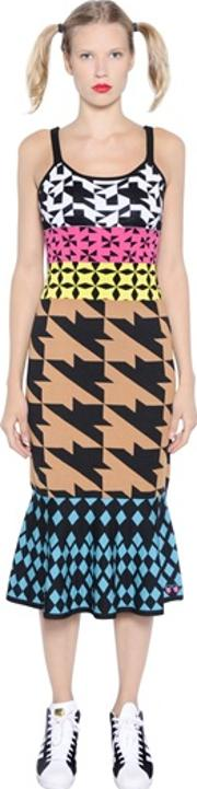 Gabrielab , Geometric Cotton Jacquard Dress
