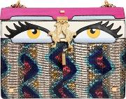 Giancarlo Petriglia , Medium Peggy Eyes Snakeskin Shoulder Bag