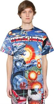Moschino , Transformer Print Cotton Jersey T Shirt