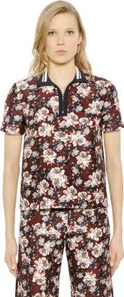 Mother Of Pearl , Javel Floral Cotton & Silk Polo Shirt