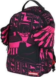 Sprayground , Pink Goddess Printed Backpack With Wings