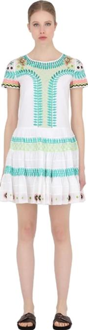 Temperley London , Embroidered Cotton Muslin Dress