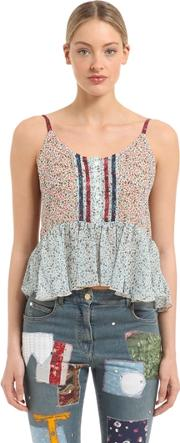 Tommy Hilfiger Collection , Prairie Floral Printed Viscose Top