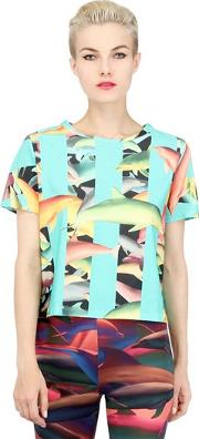 Tothem , Tropical Dolphin Printed Cotton T Shirt