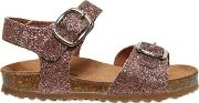 Two Con Me By Pepe , Glittered Leather Sandals