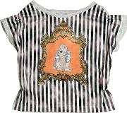 Venera Arapu , Dog Printed Cotton Jersey T Shirt