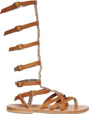 K Jacques Sttropez , Appia Leather Gladiator Sandals