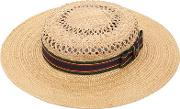 Kreisi Couture , Michelle Straw Boater Hat