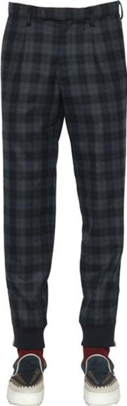 Kolor , Plaid Wool Pants