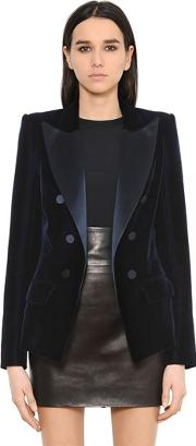 Alexandre Vauthier , Tailored Velvet & Satin Jacket