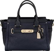 Coach Ny , Swagger Leather Top Handle Bag