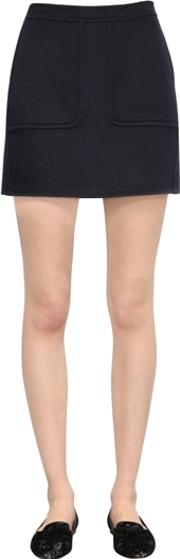 Larusmiani , Double Cashmere Mini Skirt