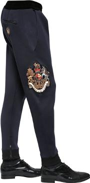 Lords & Fools , Embroidered Neoprene Sweatpants