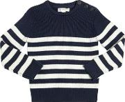 North Sails , Striped Cotton & Wool Blend Sweater