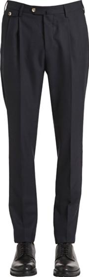 Pt01 , 18cm Alfred Brown Wool Fabric Pants