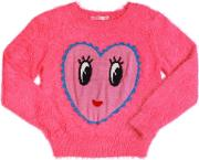 Billieblush , Knitted Faux Fur Sweater